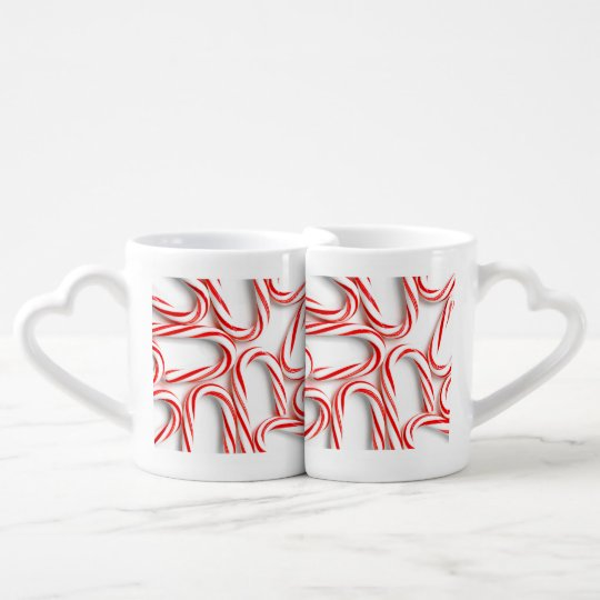 Fabulous Christmas Candy Canes Coffee Mug Set