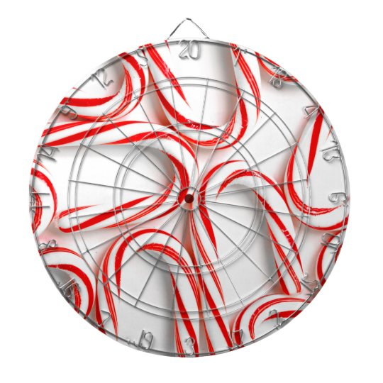 Fabulous Christmas Candy Canes Dartboard