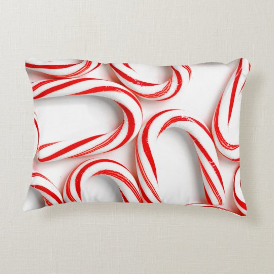 Fabulous Christmas Candy Canes Decorative Pillow