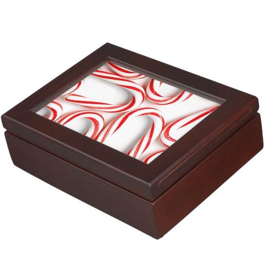 Fabulous Christmas Candy Canes Keepsake Box