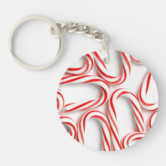 Fabulous Christmas Candy Canes Keychain