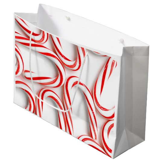 Fabulous Christmas Candy Canes Large Gift Bag