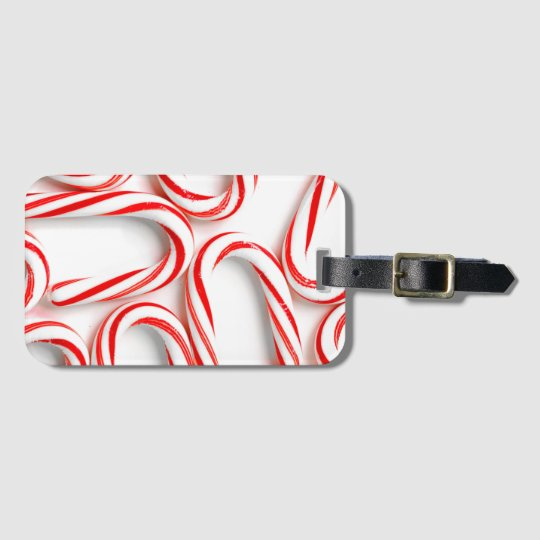 Fabulous Christmas Candy Canes Luggage Tag