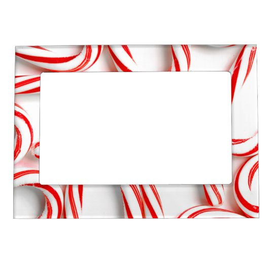 Fabulous Christmas Candy Canes Magnetic Frame