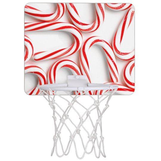 Fabulous Christmas Candy Canes Mini Basketball Hoop