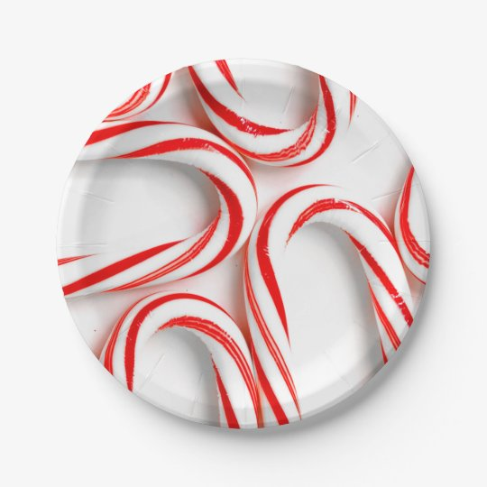 Fabulous Christmas Candy Canes Paper Plate