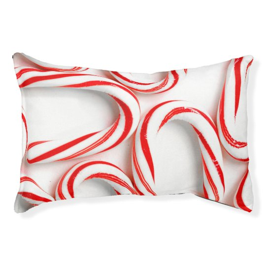 Fabulous Christmas Candy Canes Pet Bed