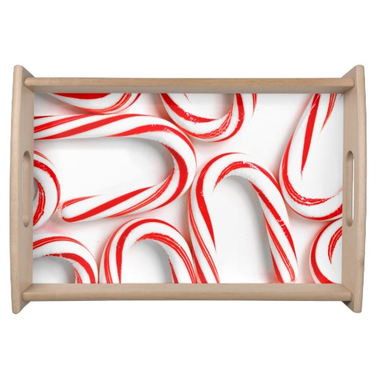 Fabulous Christmas Candy Canes Serving Tray