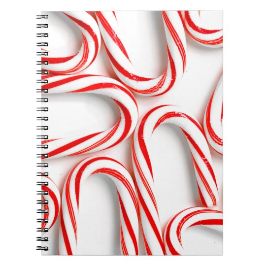 Fabulous Christmas Candy Canes Spiral Notebook