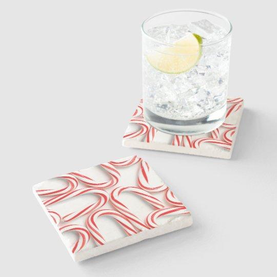 Fabulous Christmas Candy Canes Stone Coaster
