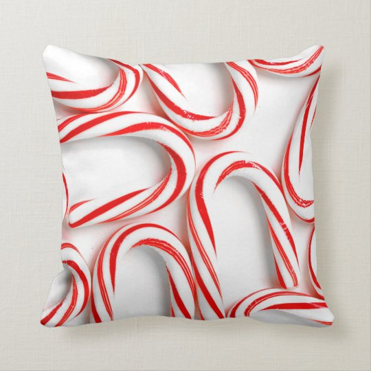 Fabulous Christmas Candy Canes Throw Pillow