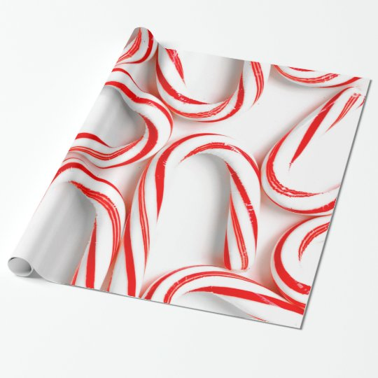 Fabulous Christmas Candy Canes Wrapping Paper
