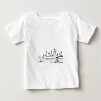 fabulous city . artwork . black and white baby T-Shirt