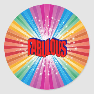Fabulous Classic Round Sticker