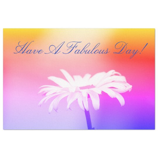 Fabulous Day Colourful Daisy Tissue-paper Tissue Paper
