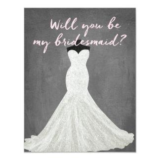 "Fabulous Dress | Bridesmaid 4.25"" X 5.5"" Invitation Card"