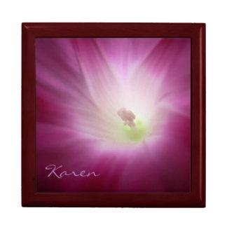 Fabulous Elegant Pink Morning Glory Garden Flower Gift Box