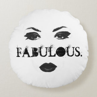 Fabulous faced round pillow