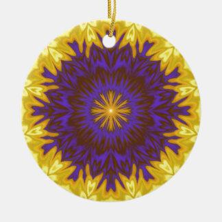 Fabulous Fantasy Flower Ceramic Ornament
