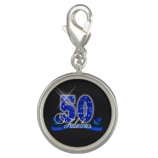 Fabulous Fifty Sparkle ID191 Charm