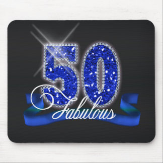 Fabulous Fifty Sparkle Mouse Pad