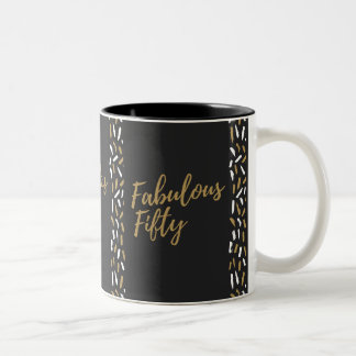 fabulous fifty Two-Tone coffee mug