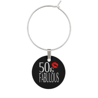 Fabulous Fifty Wine Charm