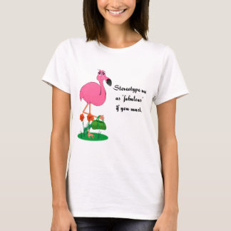 Fabulous Flamingo on a t-shirt
