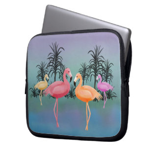 Fabulous FlamingosLaptop Sleeve
