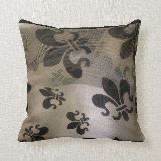 Fabulous Floating Fleur de Lis Throw Pillow