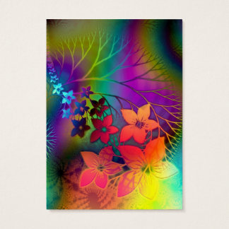 Fabulous Floral Fractural Rainbow Parade Business Card