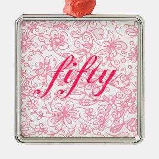 Fabulous Flowery Fifty Premium Ornament