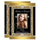 Fabulous Gold Black Glamour Hollywood Diamond Card