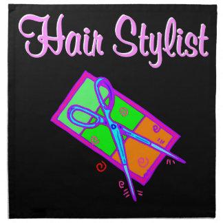 FABULOUS HAIR STYLIST HAIR CUT DESIGN NAPKINS