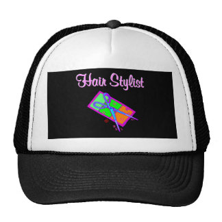 FABULOUS HAIR STYLIST HAIR CUT DESIGN TRUCKER HAT