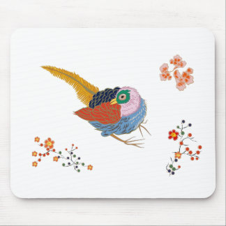 Fabulous large bird with Golden feathers. Japanese Mouse Pad