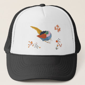 Fabulous large bird with Golden feathers. Japanese Trucker Hat