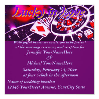 Fabulous Las Vegas Lucky in Love Wedding Card