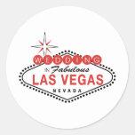 Fabulous Las Vegas Wedding Template Customizable Round Sticker