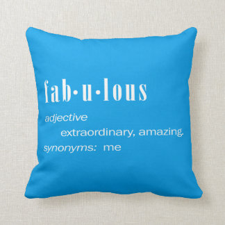 Fabulous Me Throw Pillow