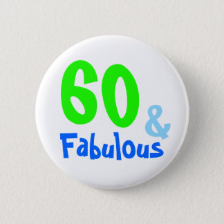 Fabulous Neon Birthday 2 Inch Round Button