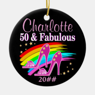 FABULOUS PERSONALIZED 50TH BIRTHDAY ORNAMENT