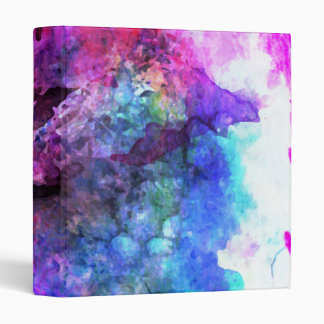 Fabulous Purple Watercolor Abstract 3 Ring Binder