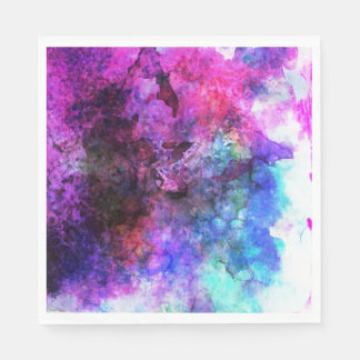 Fabulous Purple Watercolor Abstract Disposable Napkins