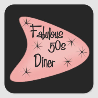 Fabulous retro Fifties Diner sticker