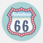 Fabulous Route 66 Classic Round Sticker
