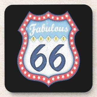 Fabulous Rt. 66 Beverage Coasters