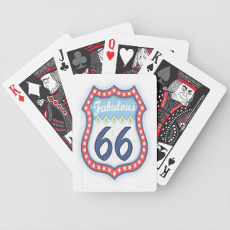 Fabulous Rt. 66 Bicycle Playing Cards