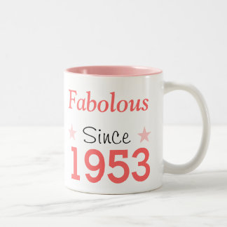 Fabulous Since 1953 Two-Tone Coffee Mug