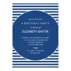 Fabulous Stripes General Party Invitation (Blue)
